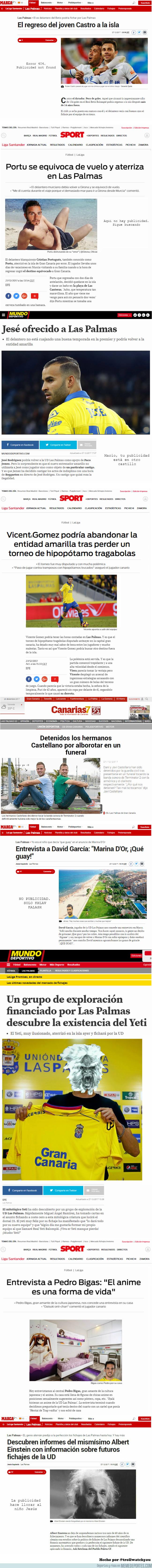 1014282 - ¡Feliz día de los inocentes! Sabrías decir cual de estas noticias de Las Palmas es falsa y cuál verdadera?