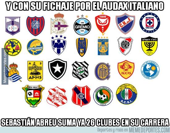 1014359 - Sebastián Abreu bate el Record Guinness de jugador con más clubes