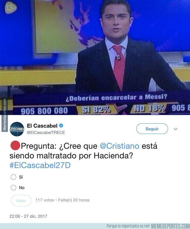 1014450 - Retratan de forma vergonzante el doble rasero de 13TV con los escándalos de Hacienda entre Messi y Cristiano