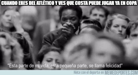 1014702 - Diego Costa puede volver a vestir ante el Lleida la camiseta rojiblanca
