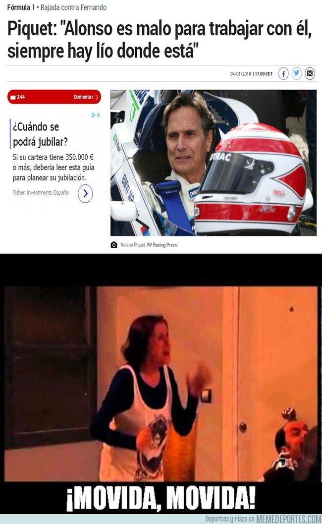 1014867 - Ojito a las declaraciones de Nelson Piquet contra Alonso