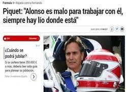 Enlace a Ojito a las declaraciones de Nelson Piquet contra Alonso