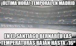 Enlace a El Bernabéu mas helado que nunca