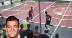 Enlace a Así jugaba Coutinho a fútbol sala cuando tenía 13 años