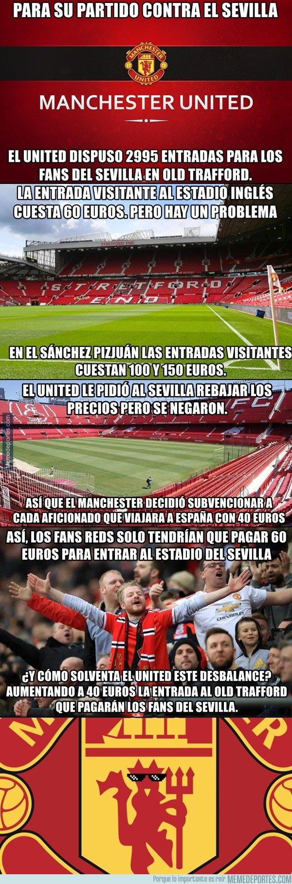 1015724 - La venganza del Manchester United contra el Sevilla por el elevado precio que les cobran por sus entradas