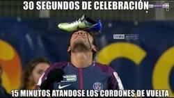 Enlace a La curiosa celebración de Neymar