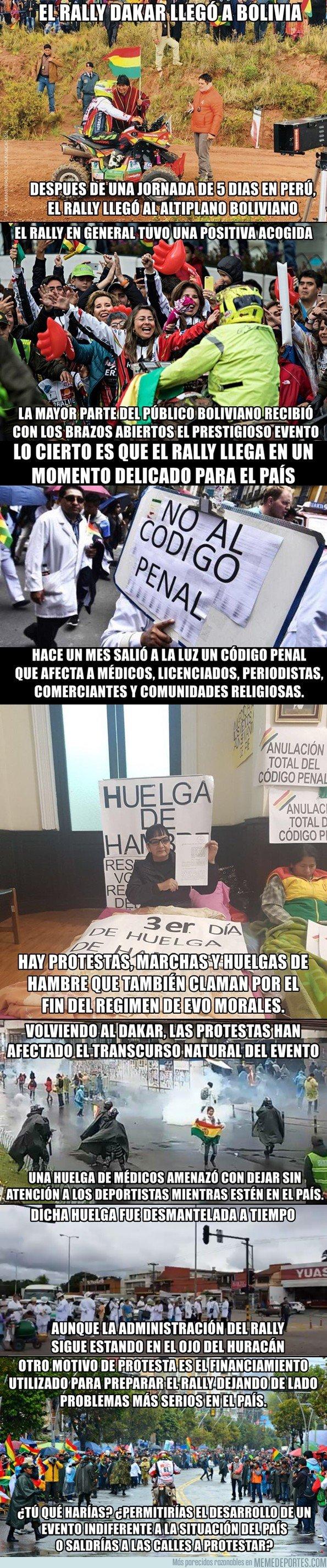 1016000 - Protestas en Bolivia por el Rally Dakar