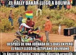 Enlace a Protestas en Bolivia por el Rally Dakar