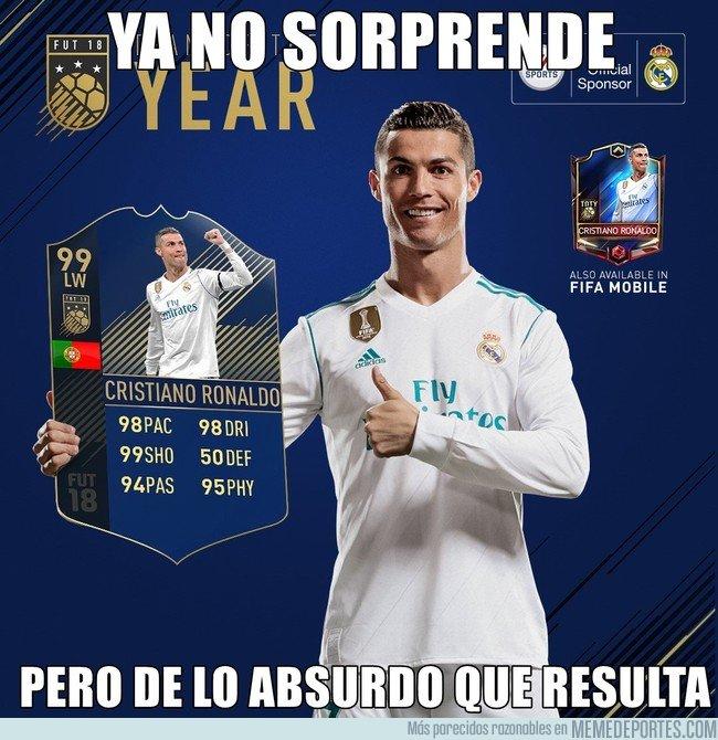 1017183 - Cristiano es el jugador más valorado en el team of the year del FIFA18