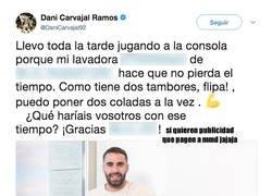 Enlace a Isco se mofa de Carvajal tras anunciar en Twitter una lavadora con una respuesta genial