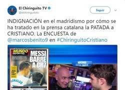 Enlace a El 'zasca' de un twittero al Chiringuito con el doble rasero de la herida de Cristiano