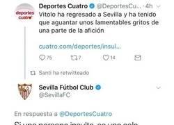 Enlace a Deportes Cuatro criticó a la afición del Sevilla y se llevó una curiosa lección de respeto