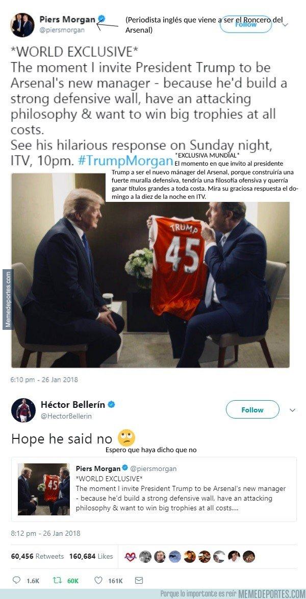 1018710 - Gran comentario de Héctor Bellerín respondiendo a Donald Trump