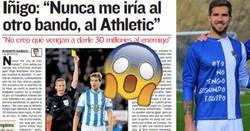 Enlace a El fichaje de Íñigo Martínez por el Athletic desata una guerra civil vasca en twitter