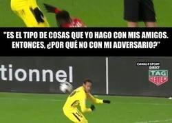 Enlace a Las declaraciones de Neymar sobre las faltas que recibe, sus trucos y la broma con la que metió la pata en su partido contra el Rennes ¿qué opinas tú?