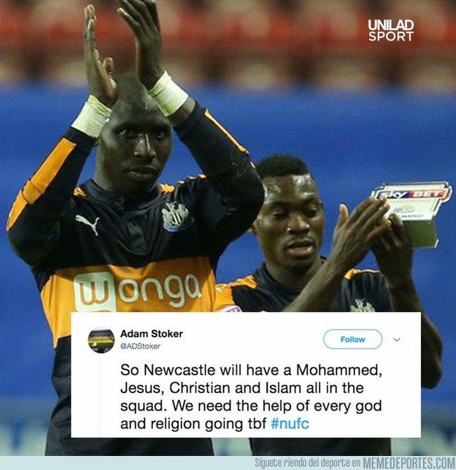 1019299 - Newcastle United tiene un Mohammed, un Jesus, un Christian y un Islam, necesitan ayuda de todas las religiones