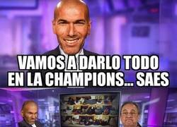 Enlace a Zidane está nervioso