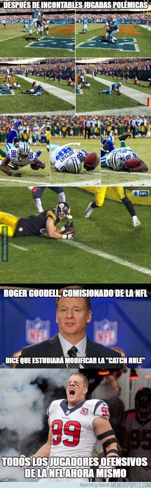 1019919 - Goodell estudiará cambiar la catch rule, ¡al fin!