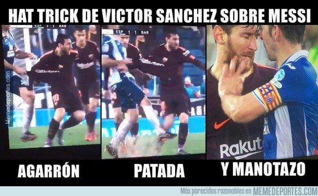 1019958 - Víctor Sánchez y su infortunado encuentro con Messi