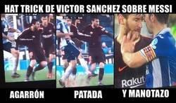 Enlace a Víctor Sánchez y su infortunado encuentro con Messi