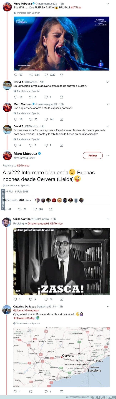1020195 - La callada de boca de Marc Márquez a un personajazo que aprovechó Operación Triunfo para meterse con él