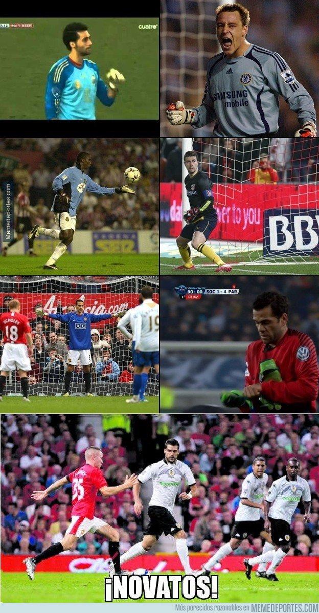 1020265 - Un jugador de portero es difícil, pero un portero de jugador en Old Trafford...