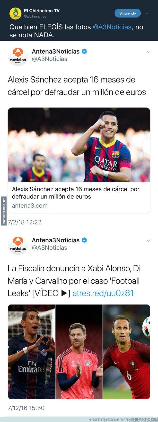 1020475 - Los de @ElChirincirco pillan a Antena 3 manipulando de forma lamentable con los escándalos fiscales del Real Madrid