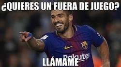 Enlace a Luis Suárez y los fueras de juego