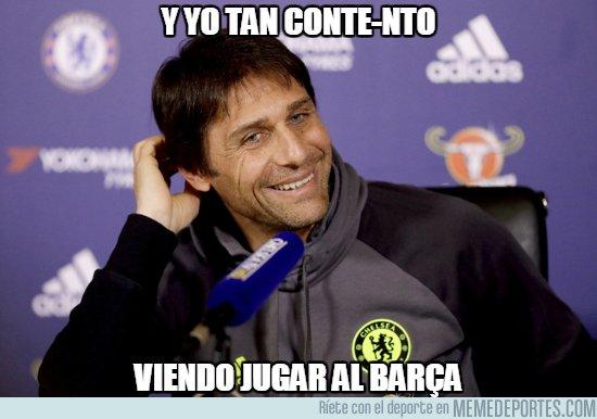 1020928 - Conte sonríe al ver al Barça