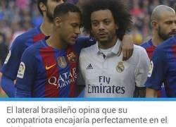 Enlace a Duras declaraciones para los culés por parte de Marcelo sobre Neymar