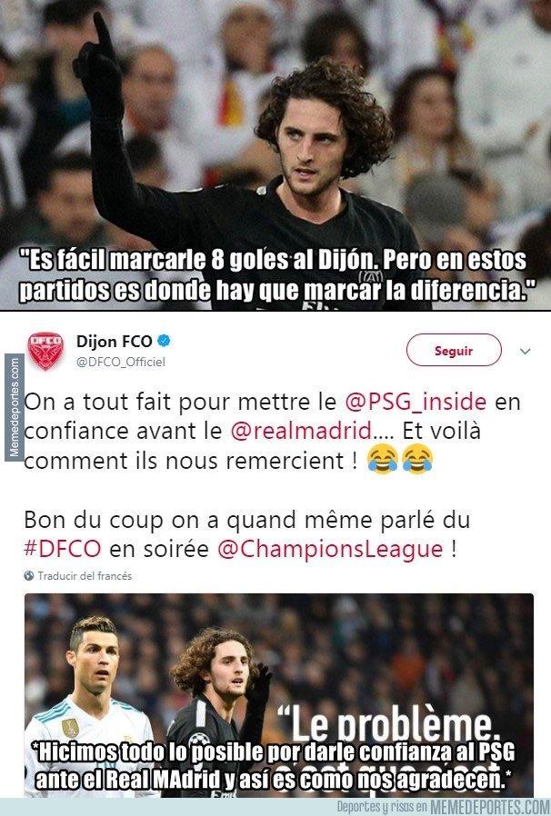 1021693 - El Dijon responde a la crítica de Rabiot a su equipo frente al Madrid