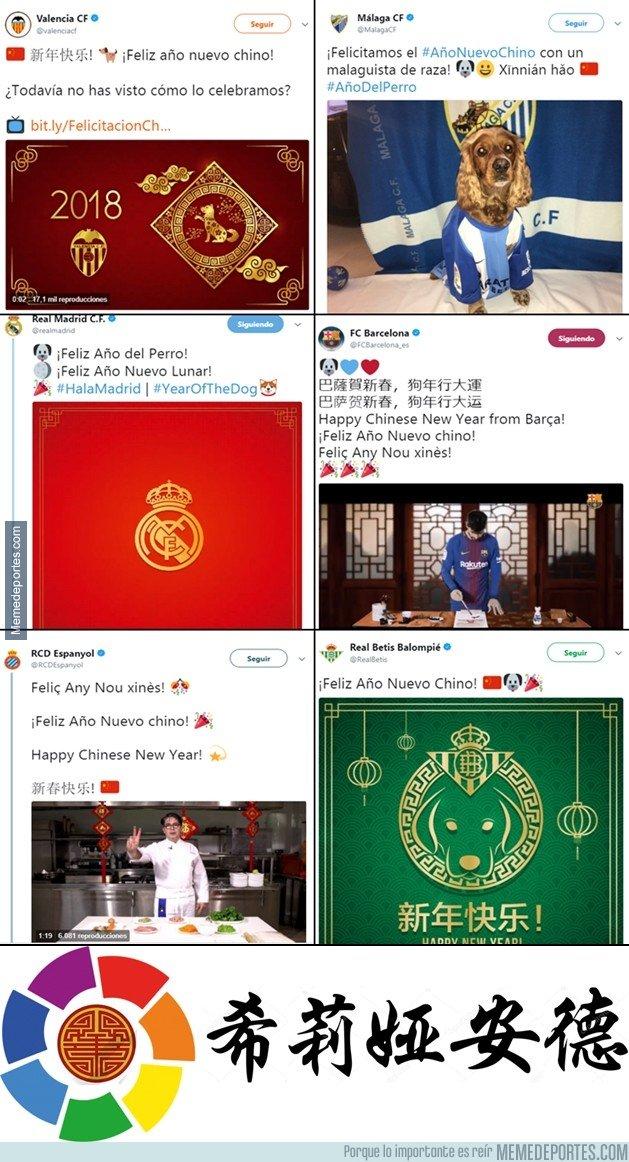 1021800 - Así han felicitado el año nuevo chino los equipos