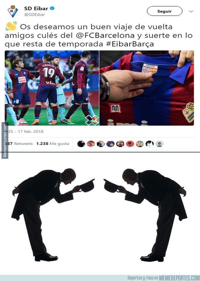1021931 - El gran gesto del Eibar hacia el Barça tras finalizar el partido