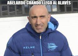 Enlace a Abelardo se la está sacando en el Deportivo Alavés