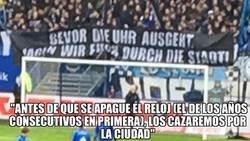 Enlace a Los hinchas del Hamburgo amenazan a sus jugadores