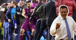 Enlace a Tomás Roncero se vuelve a reír de Guardiola, y le vuelven a mojar el hocico