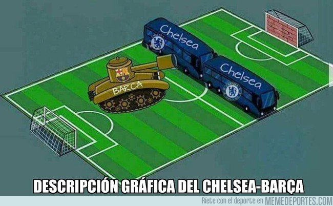 1022565 - Descripción gráfica del Chelsea-Barça, un año más