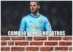 Enlace a Un muro en la portería del United