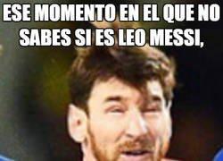 Enlace a Es muy extraña la cara de Messi