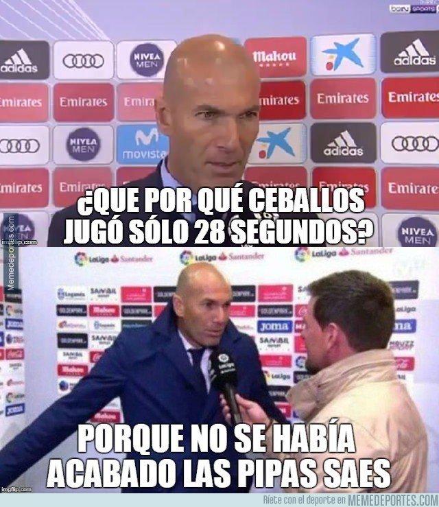 1022853 - Zidane explica el cambio de Ceballos