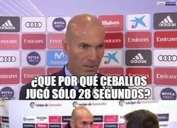 Enlace a Zidane explica el cambio de Ceballos
