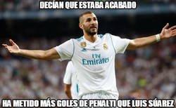 Enlace a Benzema callando a sus haters