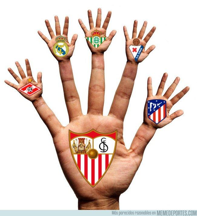 1023368 - Las cinco manitas que se ha llevado el Sevilla está temporada