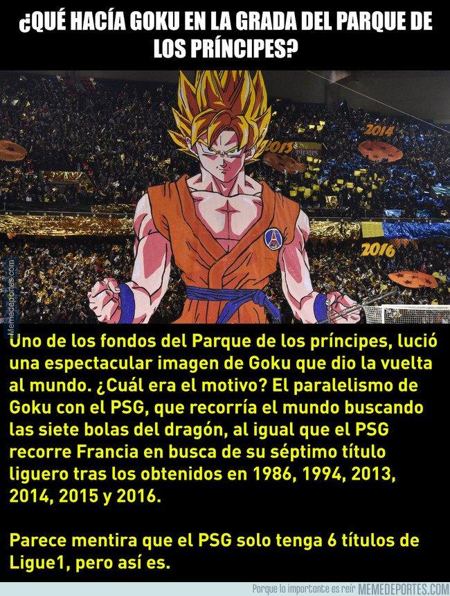 1023477 - ¿Qué hacía Goku en la grada del Parque de los Príncipes?