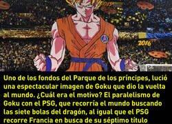 Enlace a ¿Qué hacía Goku en la grada del Parque de los Príncipes?