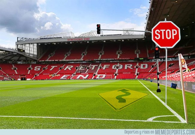 1023516 - Old Trafford ya prepara la banda por donde jugará Bolt