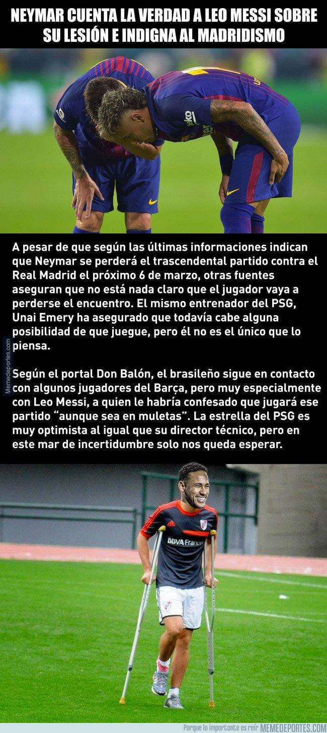 1023716 - Neymar cuenta la verdad a Messi (y revoluciona el PSG-Real Madrid)