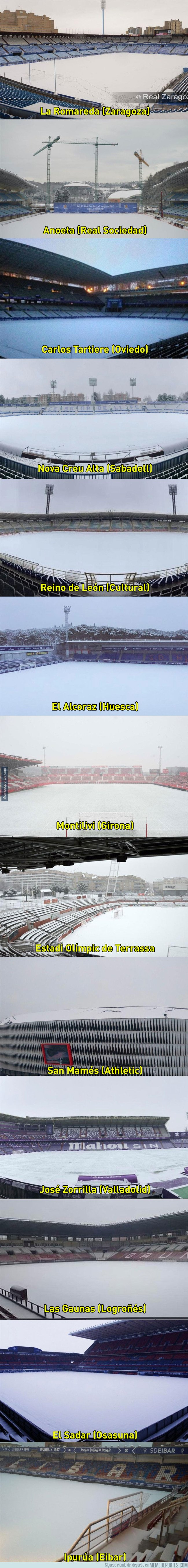 1023725 - Así han amanecido estos campos de fútbol en España esta mañana