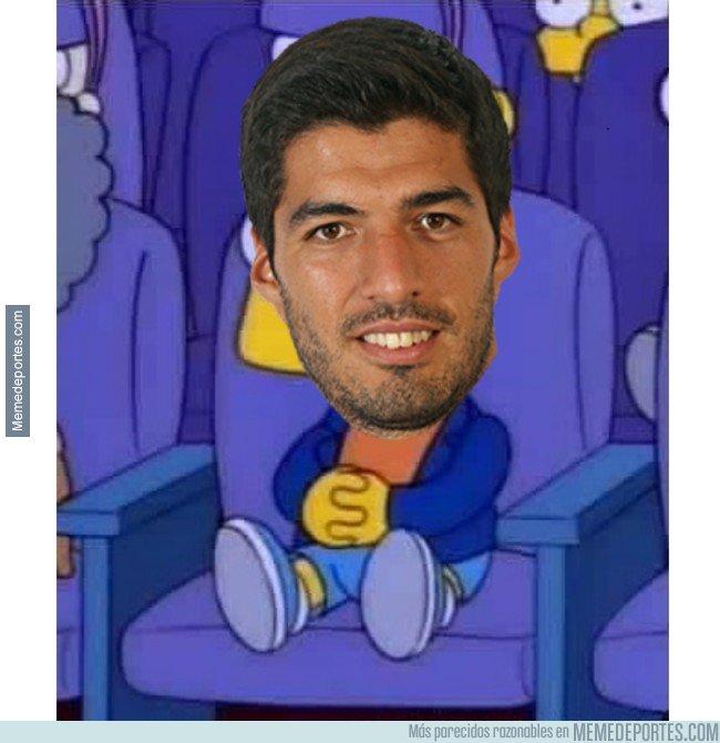 1023848 - Si lo amonestan, se pierde el partido contra el Atlético. Y Suárez en plan..