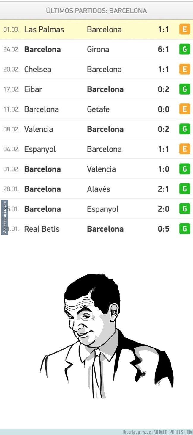 1023938 - Si miramos la tendencia de los últimos partidos del Barça, ya se sabe qué pasará el domingo